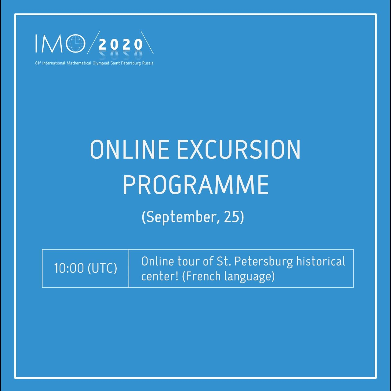 Online excursion programme